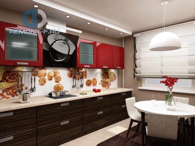 Дизайн яркой кухни площадью 10 кв. м. Фото новинок 2016