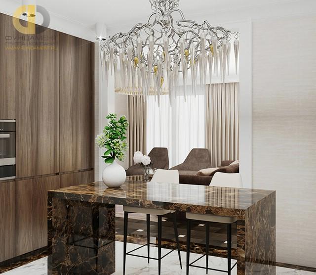 Красивые квартиры. Фото интерьера кухни в Люсиновском переулке