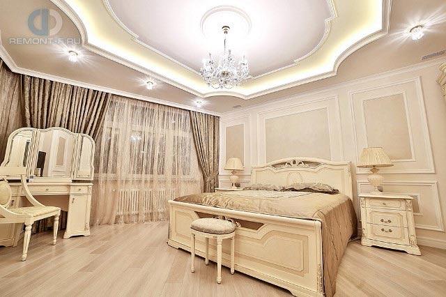 Ремонт спальни в стиле неоклассика