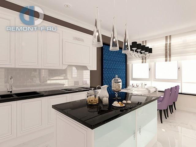 Кухня-столовая с «каретной» стяжкой