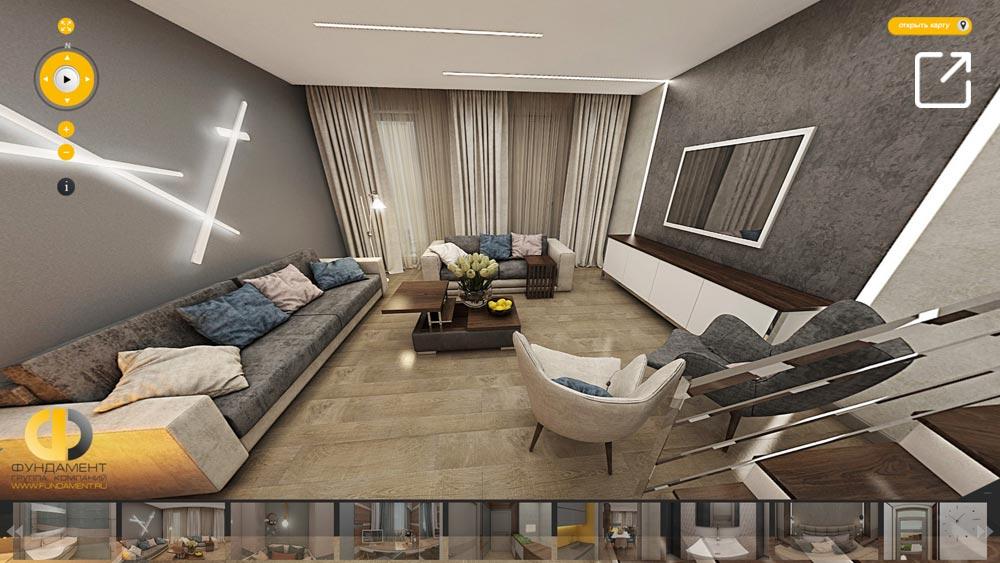 Дизайн интерьера дома в 3d – КП «Западная Долина»