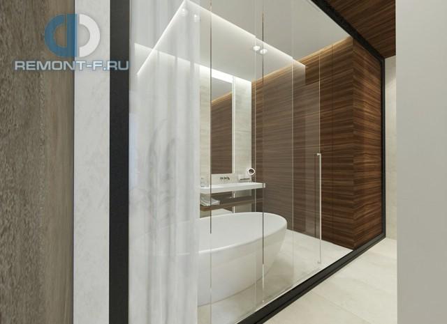 Интерьер ванной комнаты в спальне 2-комнатной квартиры на ул. Мосфильмовской