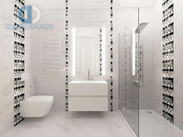 Дизайн ванной комнаты в квартире в Красногорске