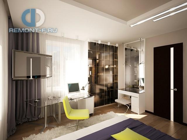 Дизайн современной спальни с рабочим местом