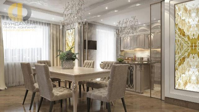 Красивые квартиры. Фото интерьера столовой на ул. Бажова