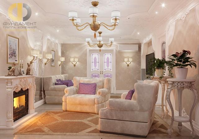 Дизайн гостиной с камином. Современные идеи и фото 2016