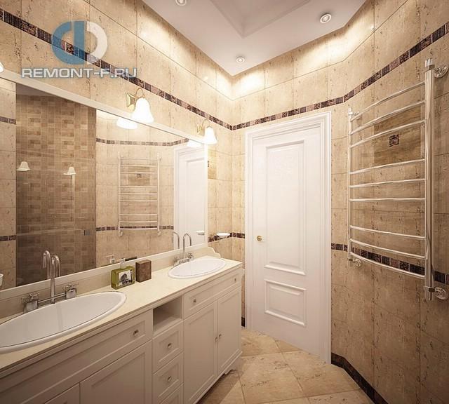 Современные идеи в дизайне классической ванной комнаты. Фото 2016