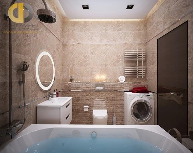Отделка ванной комнаты плиткой: фото. Дизайн интерьера в современном стиле