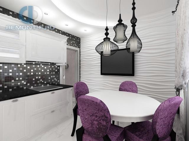 Дизайн черно-белой кухни 10 кв. м. Фото новинок 2016