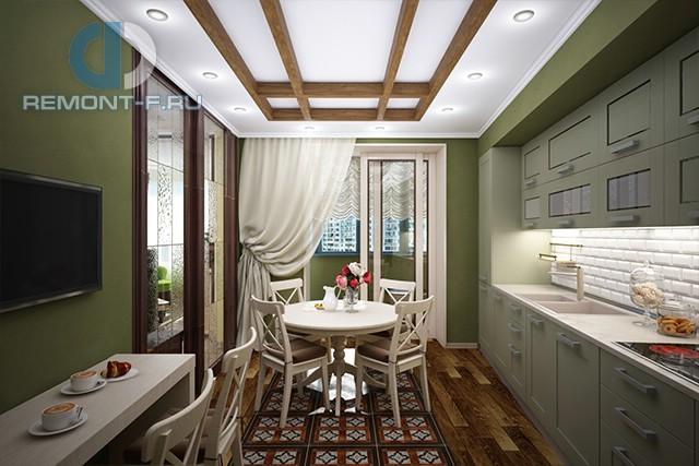Дизайн кухни 10 кв. м с выходом на балкон. Фото новинок 2016