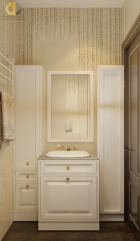 Современные идеи в дизайне ванной комнаты в стиле неоклассика. Фото 2016