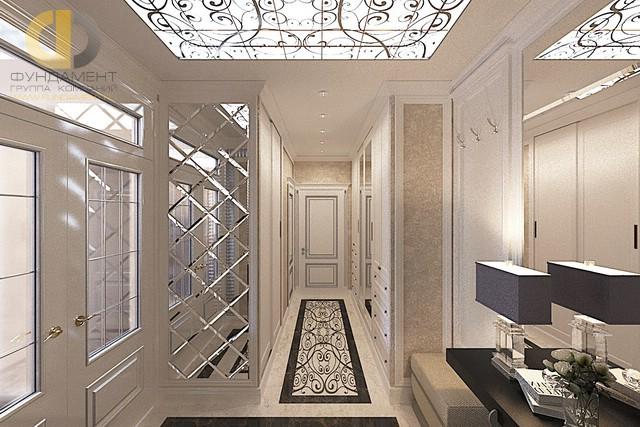 Дизайн квартиры с зеркалами с фацетом
