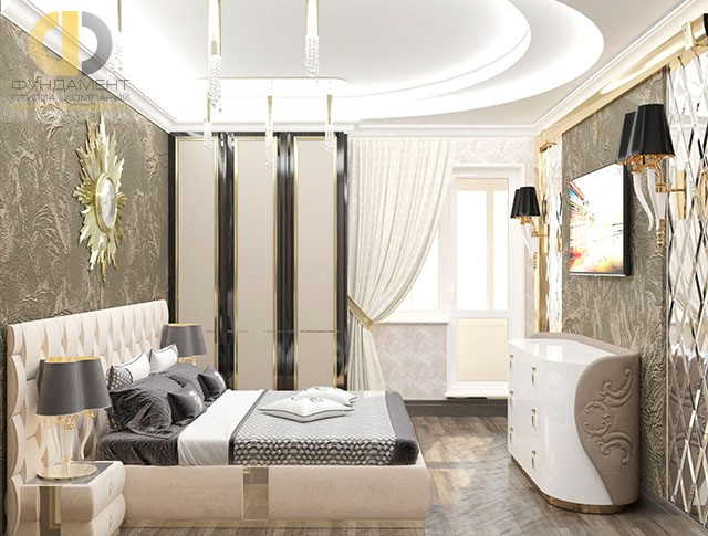 Современные идеи в дизайне спальни 12 кв. м. Фото 2016