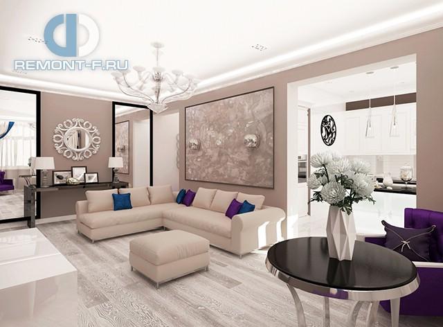 Дизайн гостиной в квартире в Красногорске