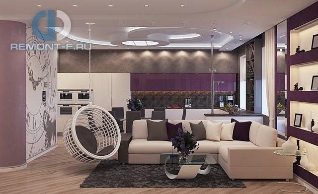 Интерьер 4-комнатной квартиры в стиле эклектика на ул. Вавилова