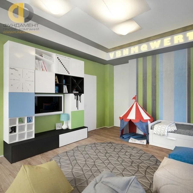 Дизайн детской комнаты 12 кв. м с палаткой: фото 2017