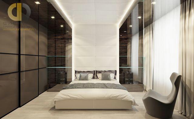 Дизайн спальни 15 кв. м в современном стиле. Фото интерьера