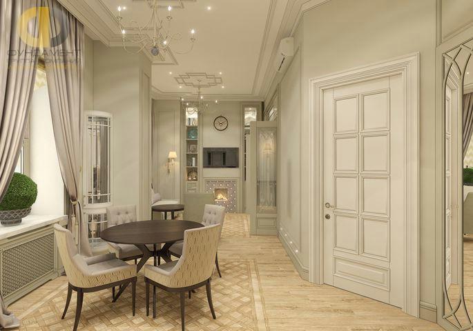 Дизайн кухни и гостиной в однокомнатной квартире. Фото интерьера