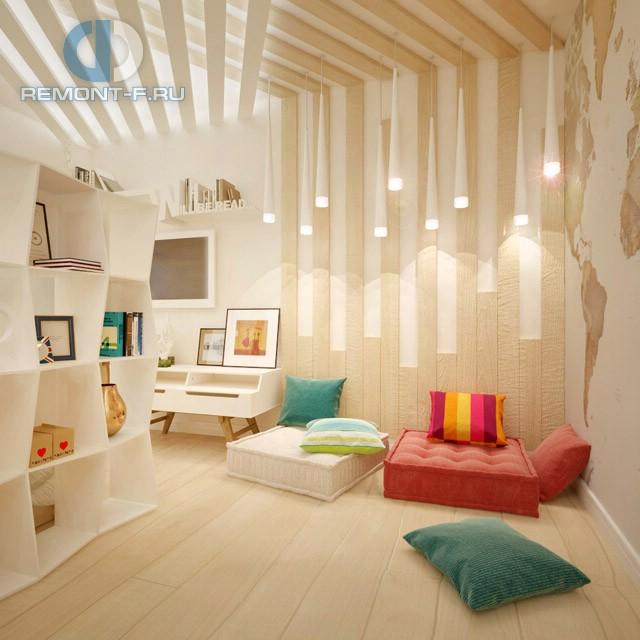 Дизайн гостиной в современном стиле в двухкомнатной квартире на ул. Новгородской