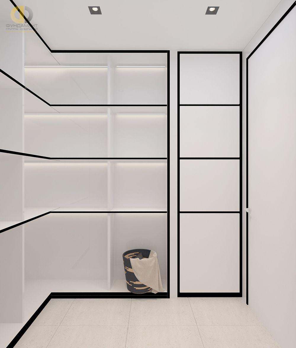 Дизайн гардероба в cовременном стиле. Фото интерьера