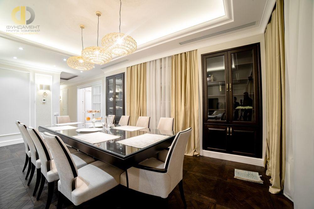 Интерьер гостиной-столовой после ремонта квартиры под ключ
