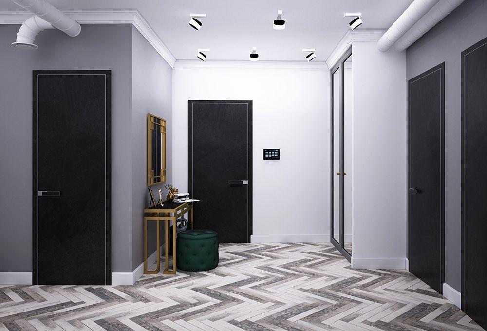 Интерьер коридора в квартире в стиле ар-деко