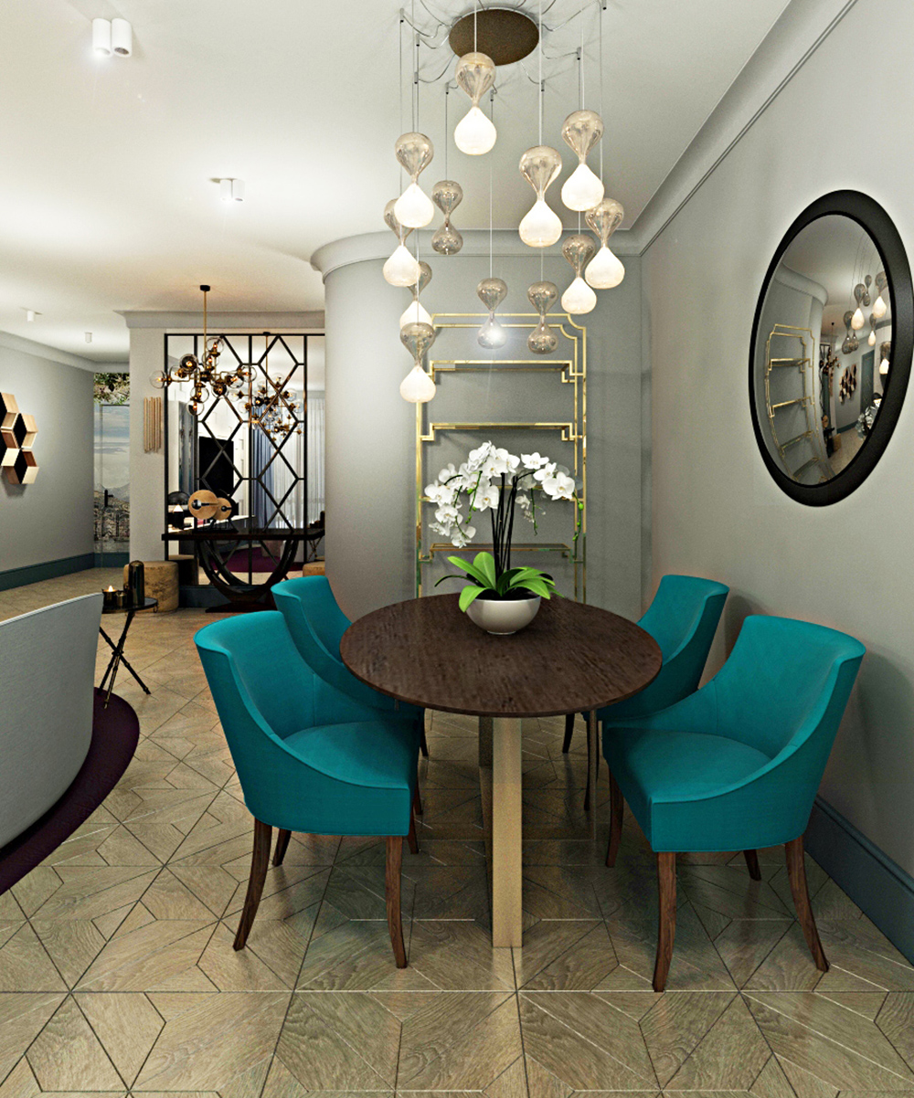 Интерьер гостиной в квартире в стиле фьюжн