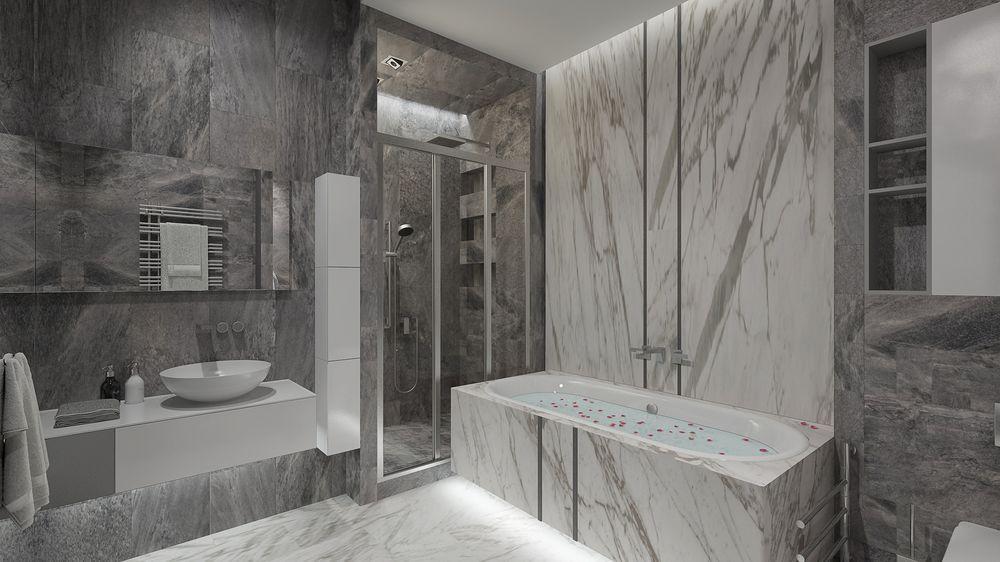 Интерьер ванной в квартире в современном стиле