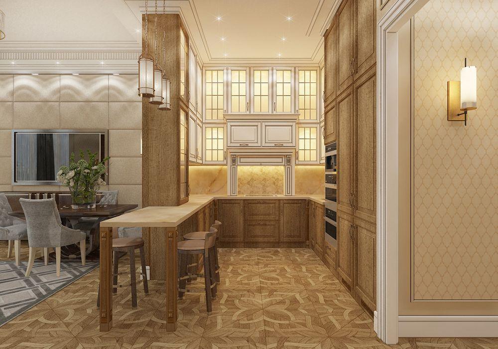 Фотография интерьера кухни в стиле ар-деко