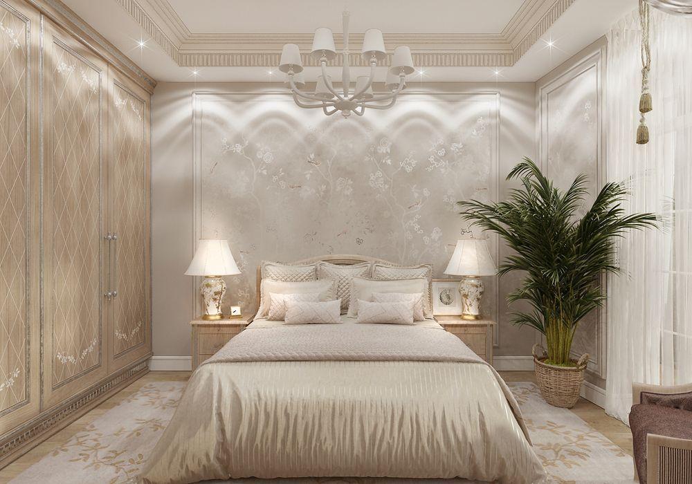 Фотография интерьера спальни в стиле ар-деко
