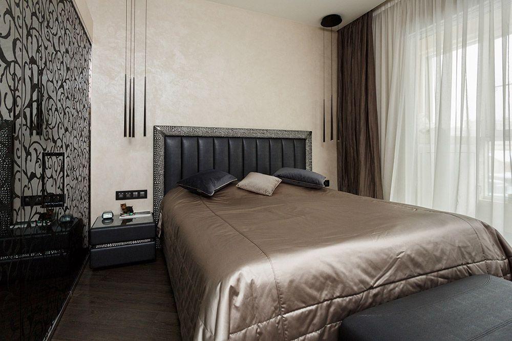 Интерьер спальни после ремонта в квартире в стиле ар-деко
