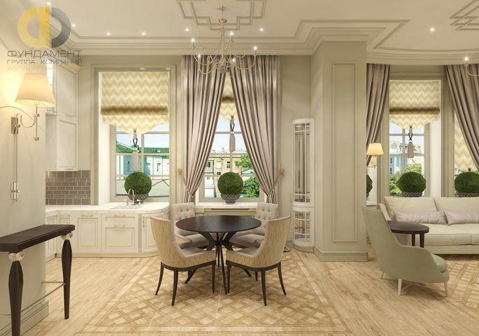Интерьер столовой в квартире в неклассическом стиле