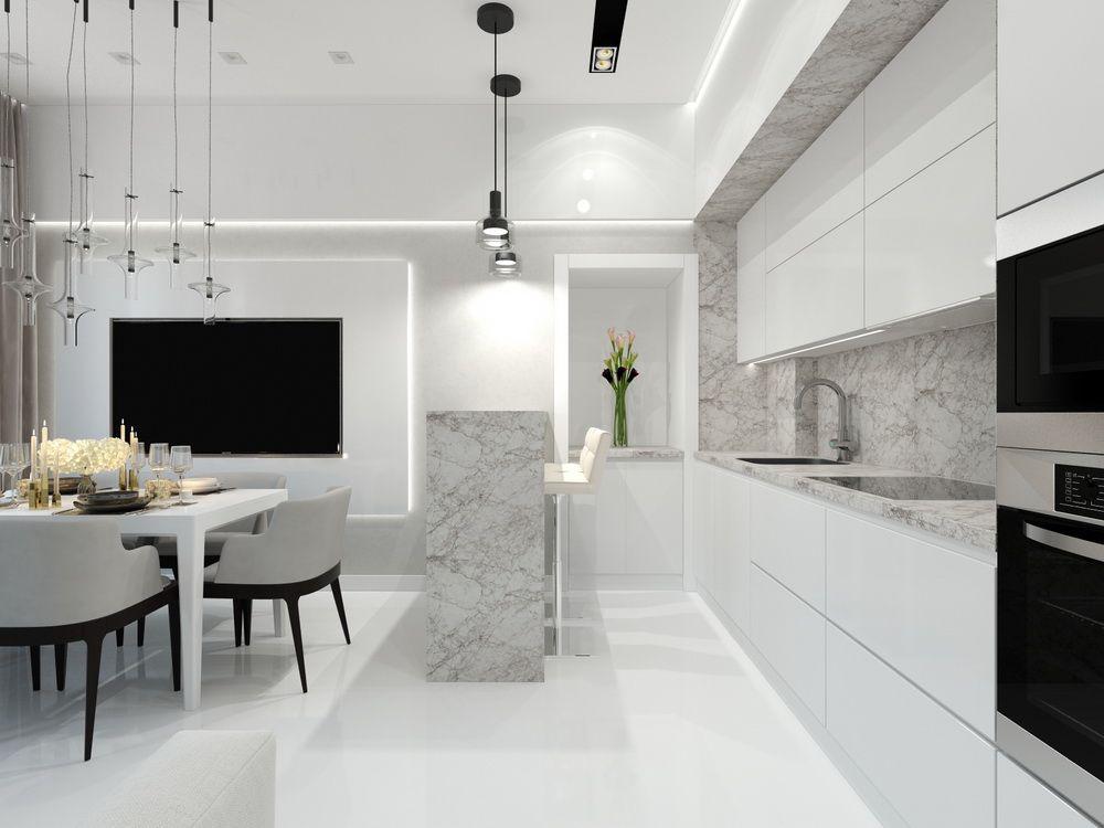 Интерьер кухни в квартире в современном стиле