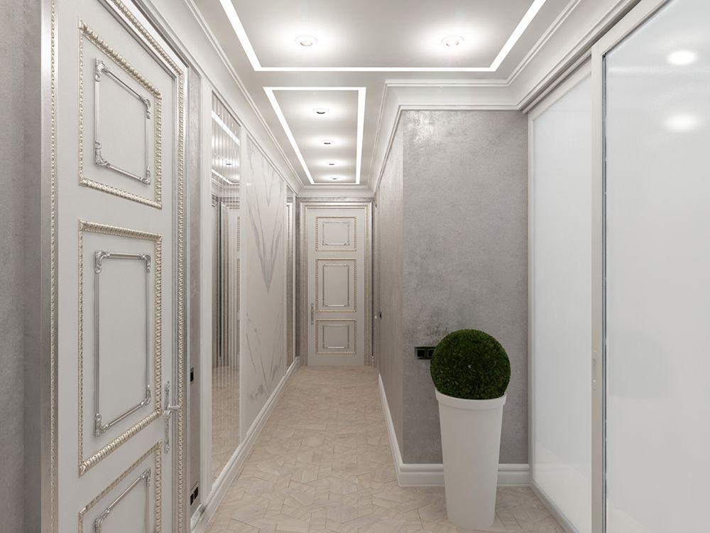 Интерьер коридора в квартире в классическом стиле