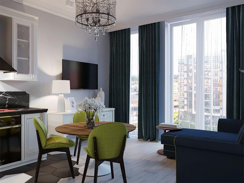 Интерьер кухни в квартире в классическом стиле