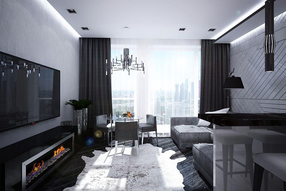 Интерьер гостиной в квартире в современном стиле