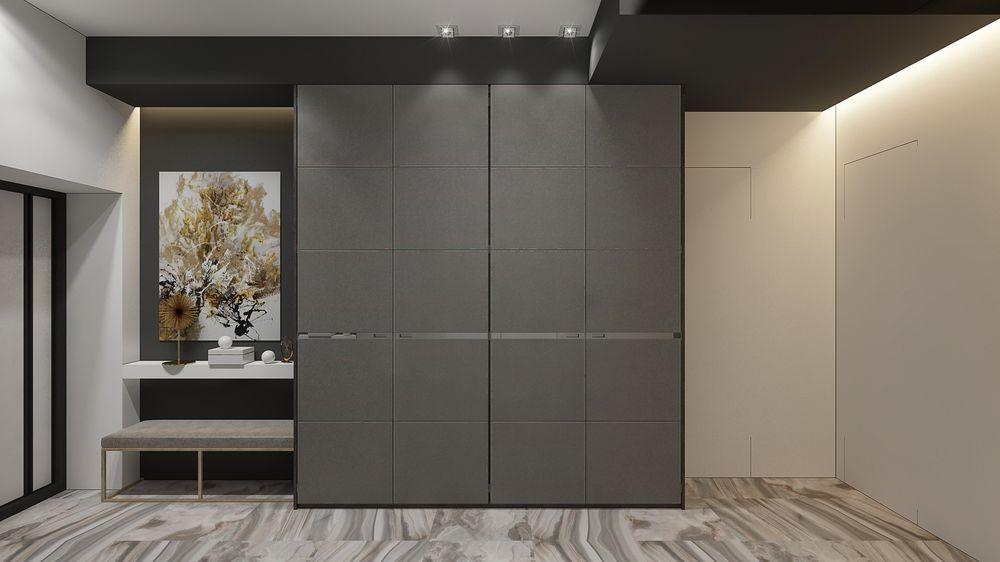 Интерьер коридора в квартире в современном стиле