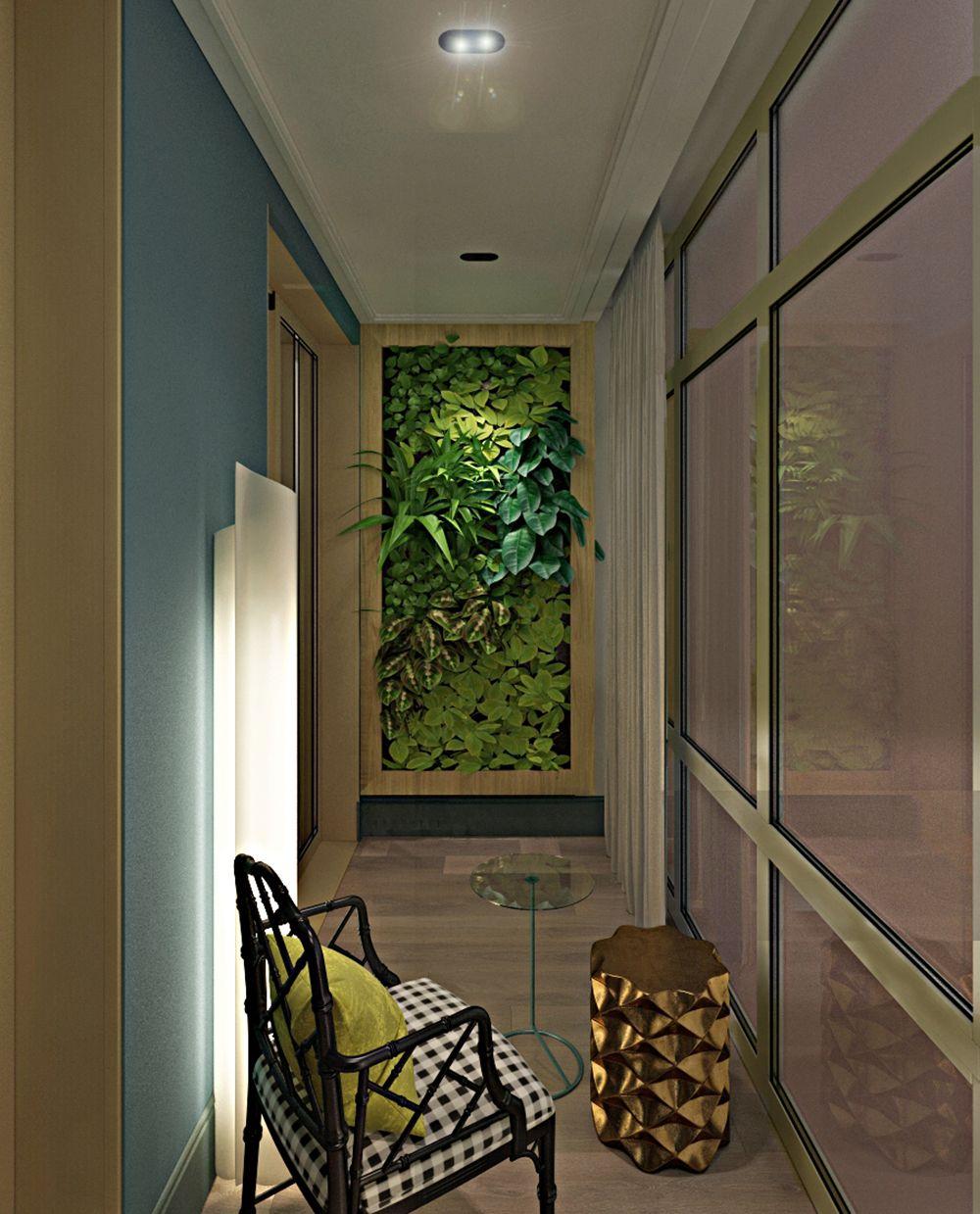 Интерьер балкона в квартире в стиле фьюжн