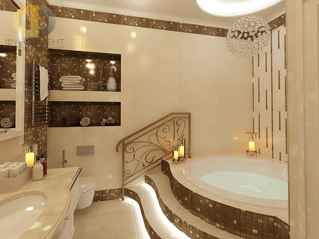 Отделка ванной комнаты плиткой 25 Фото Дизайн и декор