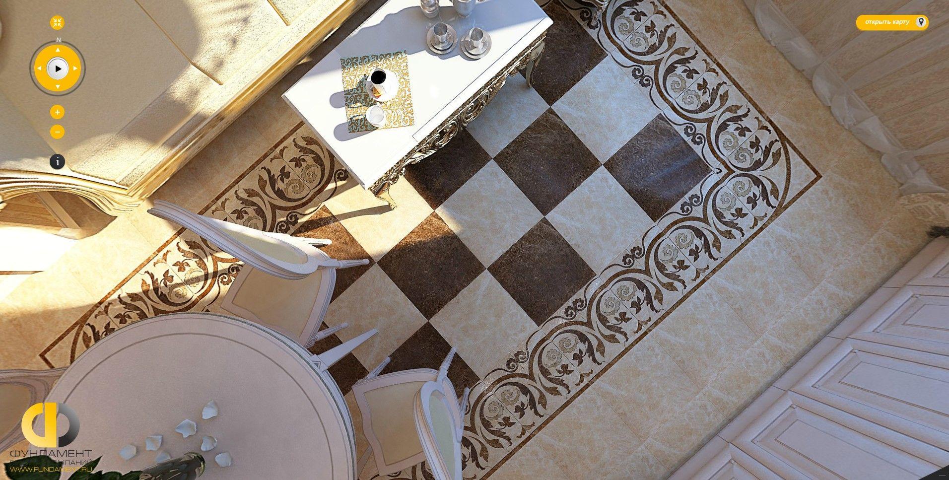 Дизайн пола на кухне и в комнатах квартиры. 37 фото