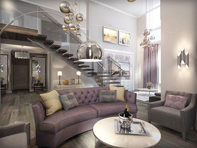 Интерьер гостиной в квартире в стиле неоклассика