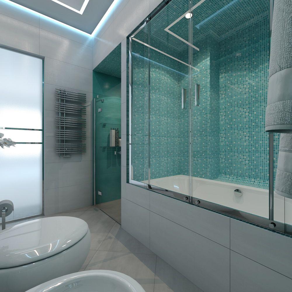 Отделка помещения санузла с ванной и душевой кабиной