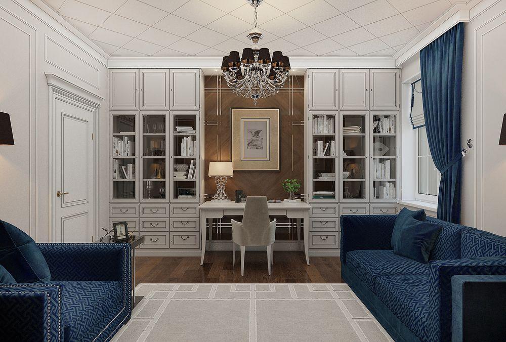 Интерьер кабинета в квартире в классическом стиле