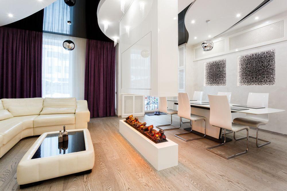 Интерьер гостиной после ремонта в доме в современном стиле