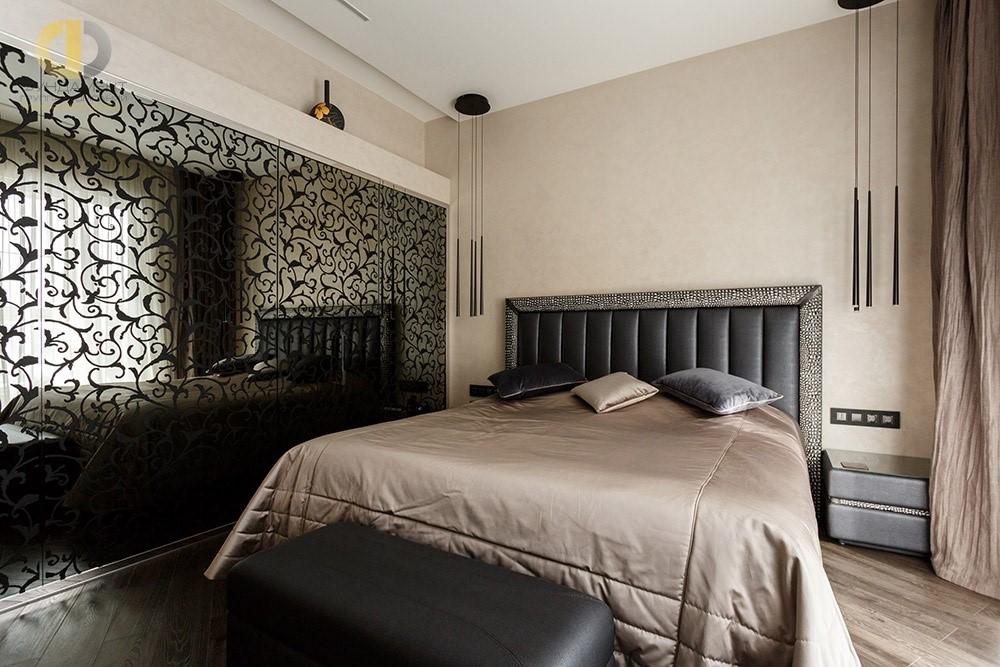 Интерьер спальни в стиле арт-деко со встроенной системой хранения