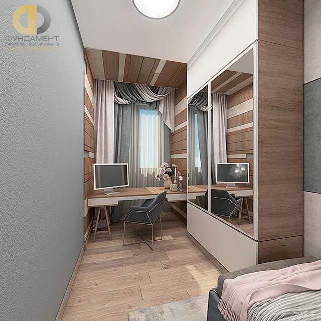 Дизайн детской комнаты для девочки. Фото интерьера в современном стиле
