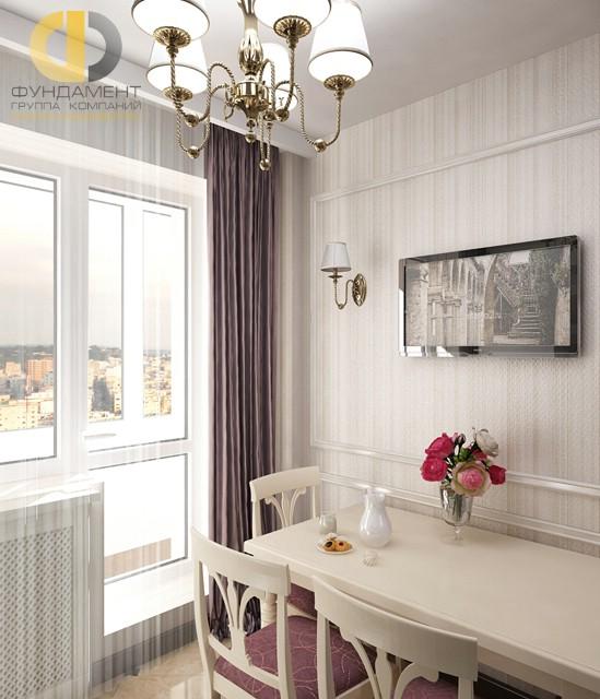 ремонт кухни 13 кв.м фото с балконом