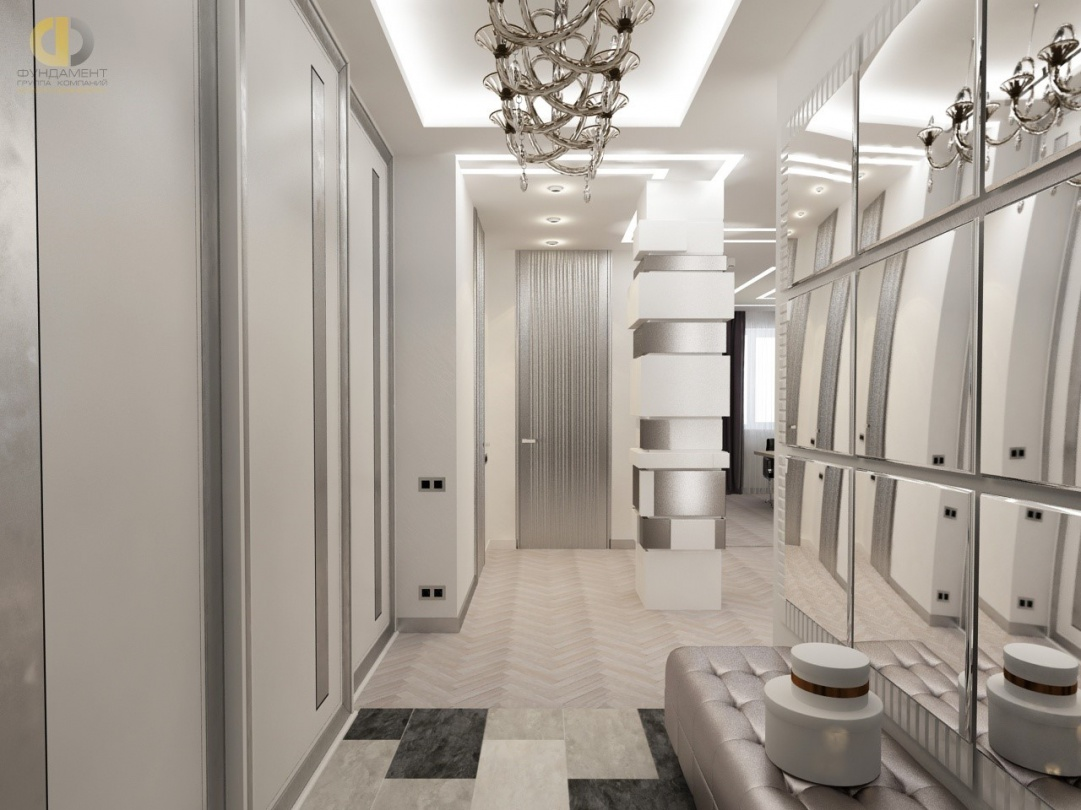 Дизайн помещений трехкомнатной квартиры в ЖК «Эдельвейс»