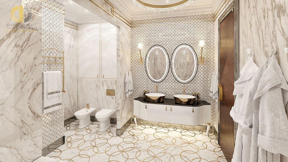 Красивый и модный интерьер ванной комнаты