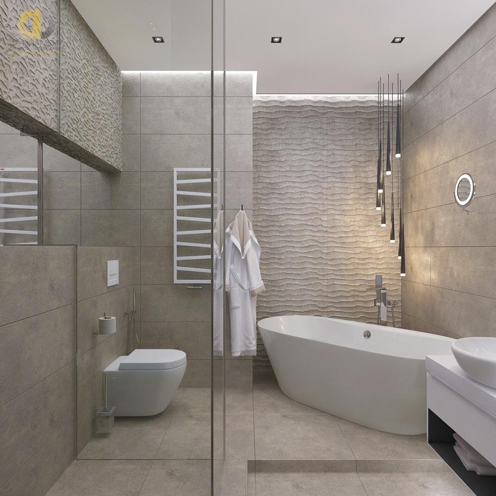 Белая ванная комната: дизайн с панно, кафелем и др 2